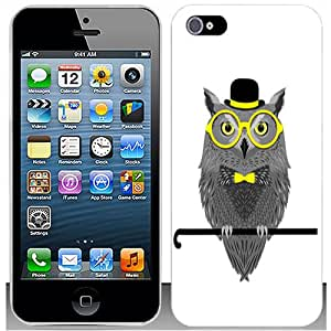 Casemas (TM) Magician Owl Flexible Slim TPU Phone Case Cover for Apple Iphone 5S / 5