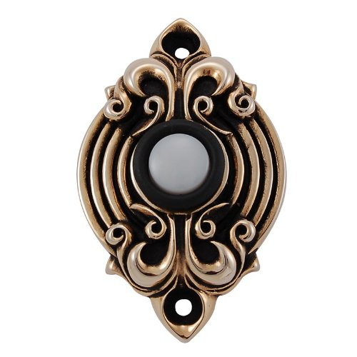 Vicenza Designs D4006 Sforza Doorbell, Antique Gold