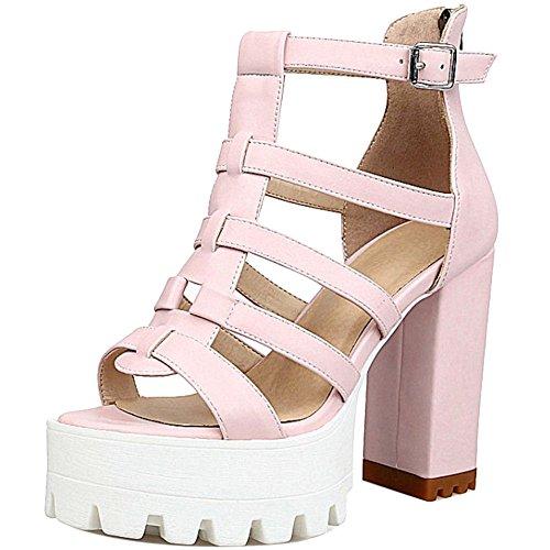 Coolcept Talons Gladiateurs Atwnqv Sandales Hauts Pink Femmes wtHqdtI