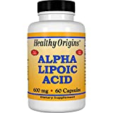 Healthy Origins Alpha Lipoic Acid 600 mg, 60 Capsules For Sale