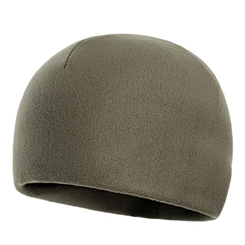 (M-Tac Coral Fleece Winter Hat Mens Skull Watch Cap Military Tactical Beanie (Olive, Large))