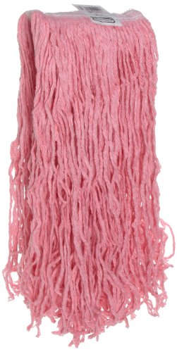 Rubbermaid Commercial FGF13100PINK Synthetic Blend Mop, 16-ounce, 1-inch White Headband, Pink - Synthetic Blend Mop