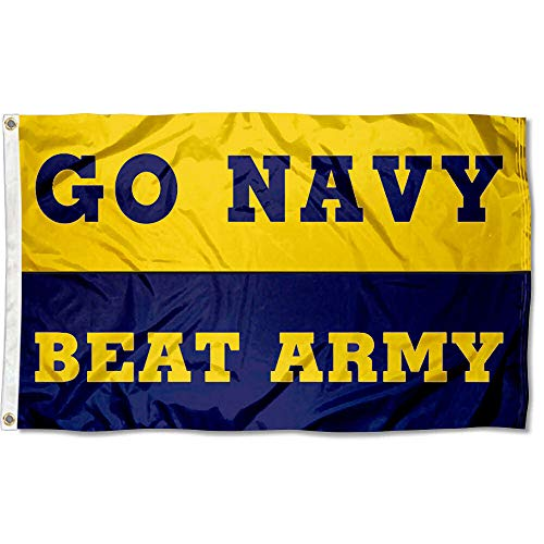 (Go Navy Beat Army Football Banner Flag)