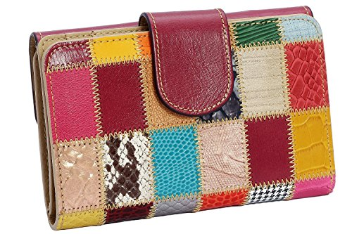 Leather Wallet for Women – Handmade by Craftsmen in Spain – Patchwork Wallet – Elegantly Boxed
