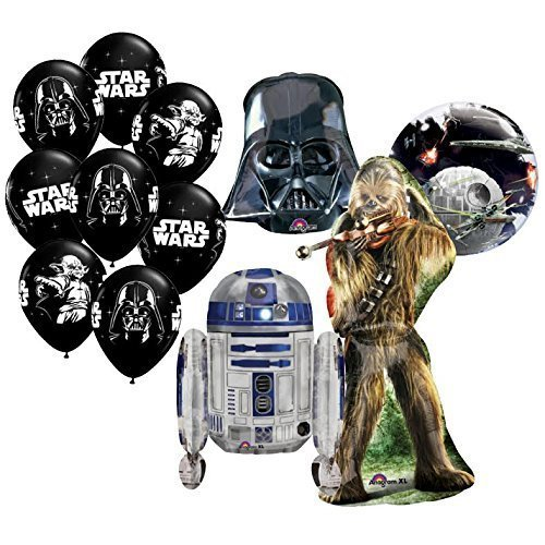 The Ultimate 12pc Star Wars Birthday Balloon Bouquet by Anagram ()