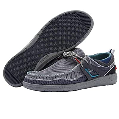 Hey Dude Men's Wally Storm Dark Grey, Size 10 | Loafers & Slip-Ons