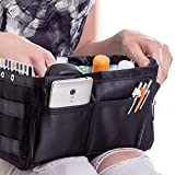 Purse Organizer for Handbag Tote Bag - Premium Insert - Dual Color Reversible and Expandable (Style 1, Black)