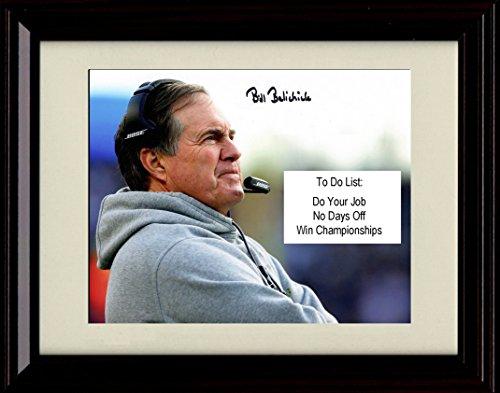 Framed Bill Belichick Autograph Replica Print - Do your job! No Days Off!