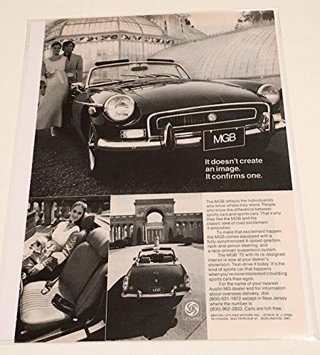 1972 MGB Automobile Confirms An Image Magazine Print - Hk Images