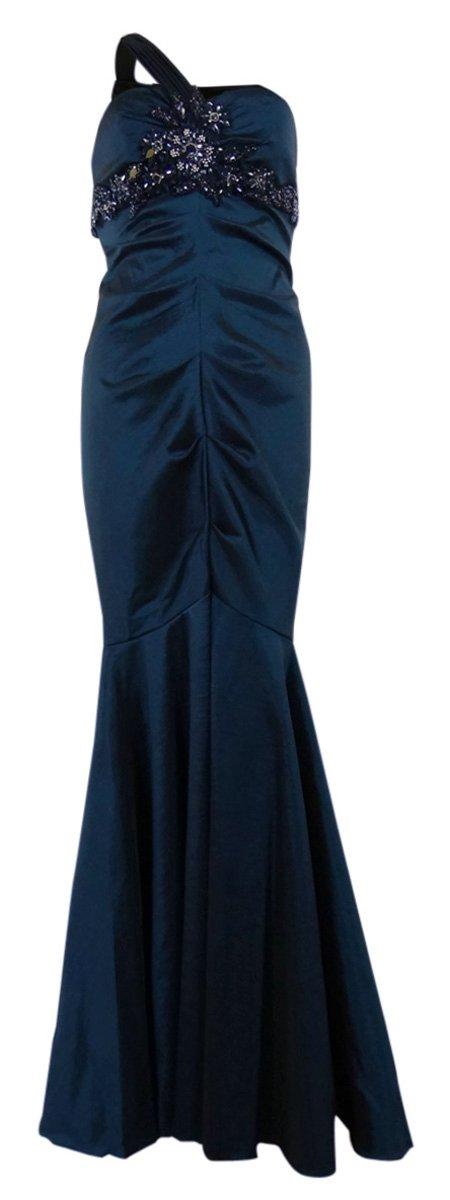 Asymmetrical Mermaid Style Dress (8, Sapphire) by Xscape