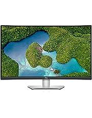 Dell S3221QS, 32 tum, välvd, 4K UHD 3840 x 2160, 60 Hz, VA antireflekterad, 16:9, AMD FreeSync, 4 ms (extrem), höjdjusterbar/lutningsbar, int. Volym, VESA, DisplayPort, HDMI, platina silver