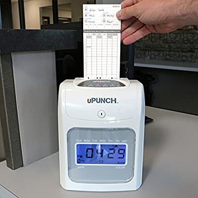 CALCULATING uPunch Time Clock Bundle with 200 Cards, 3