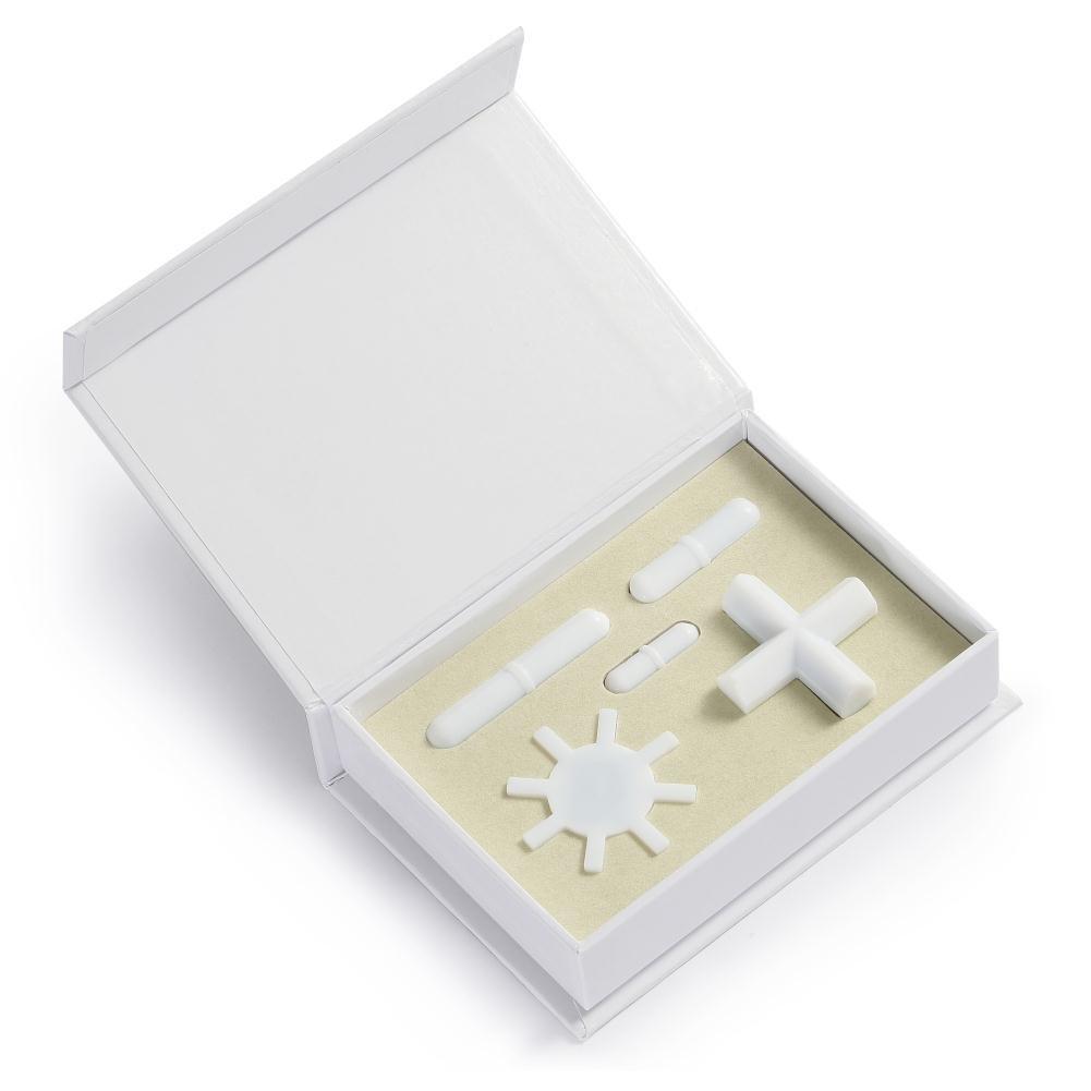 PTFE Magnetic Stirrer Mixer Stir bar Spinbar Stirring Mixer 3 Shapes(Gear/Octagonal Shape, Cross Shape, Cylinder Shape) 5pcs