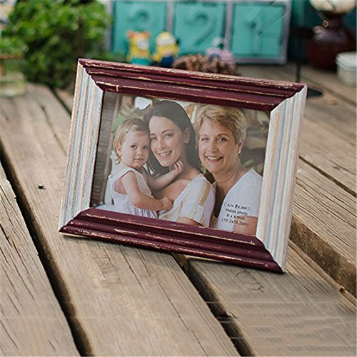 y Photo Frame European Style Marcos De Fotos Classic Holder Wooden Photo Frame Creative Gifts Baby Photo Frame ()