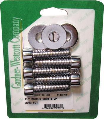 Chrome Sprocket - Gardner-Westcott P-88-49 Belt Sprocket Chrome Steel Socket-Head Bolt Kit