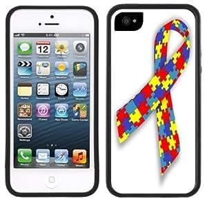 Fashion Case Autism Ribbon Support Handmade iPhone v6pQ77b0Jdu 5C Black case cover