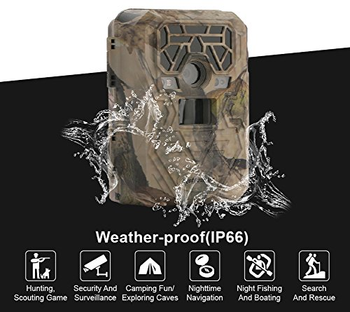 Trail Camera Night Vision Game Camera Waterproof IR LEDs Takes HD 12mp Image 1080p Video from 75feet Distance with 2.0'' LCD Screen for Hunting&Scouting / Security & Surveillance / Wildwife Observation by Bestguarder (Image #4)