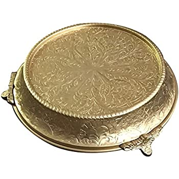 GiftBay Wedding Cake Stand Tapered 16 Inch Round, Redesigned With Advanced  Plated Gold Finish In March 2018 To Mitigate Past Problems, Built Of Strong  ...