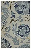Mohawk Home Soho Power Flower Sky Printed Rug, 2'6×4′, Sky Blue Review