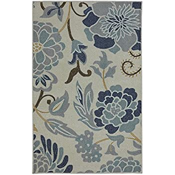 This Item Mohawk Home Soho Power Flower Sky Printed Rug, 2u00276x4u0027, Sky Blue
