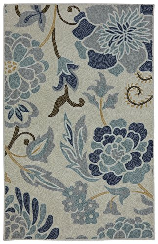 Mohawk Home Soho Power Flower Sky Printed Rug, 2'6x4', Sky Blue