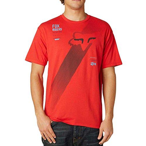 Fox Racing Mens Sidebar Short-Sleeve Shirt Small Red