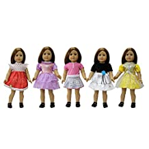 ZITA ELEMENT PACK#5 Dress Costumes Gown Clothes fit for American's Girl Doll and other 18 inches Doll Clothes- 5 Assortment