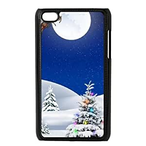 DIY High Quality Case for Ipod Touch 4, Christmas Tree Phone Case - HL-498973 Kimberly Kurzendoerfer