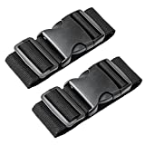 Luxebell Add A Bag Luggage Straps, 2-Pack (Black)