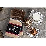 Chocolate con leche, stevia y cacao ecológico. Sin azúcar. Apto para diabéticos.