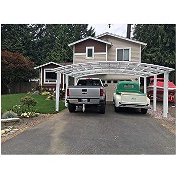 beautiful home garages amazoncom aluminum alloy durable and beautiful carport canopy