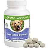 Only Natural Pet Stool Eating Deterrent for Dogs and Puppies - Stop Stool Eating Coprophagia with Digestive Enzymes- Pet Supplement - 90 Tablets