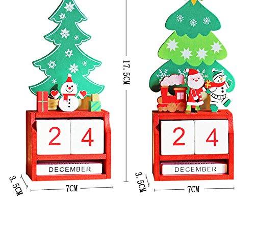 Advent Calendar Christmas Advent Calendar for Kids Wood Advent Calendar Christmas Trees 2017 (Santa Claus)