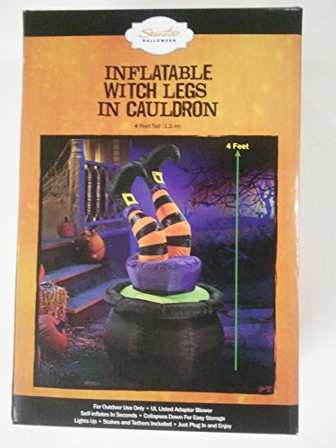 Inflantable Witch Legs in Cauldron 4 Feet Tall