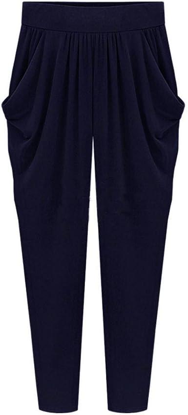 Shobdw Pantalones De Mujers Tallas Grandes Anchos Con Lanura Abocinado Anchos Pierna Cintura Elastica De Cintura Alta Pantalones De Mujer Amazon Es Ropa Y Accesorios