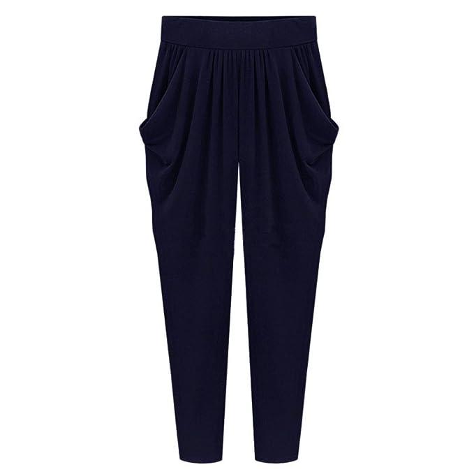 56bcc66016 SHOBDW Pantalones de Mujers Tallas Grandes