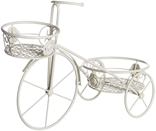 Macetero Doble Forja Bici Crema: Amazon.es: Hogar
