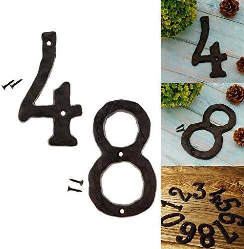 COMFORT INNOVATION 4 8 Black Iron House Door Number SignsScrews DIY Your Own Design / COMFORT INNOVATION 4 8 Black Iron House Door Number SignsScrews DIY Your Own Design