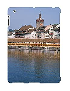 Crooningrose Hot Tpye Covered Bridge Over A River Chapel Case Cover For Ipad 2/3/4 For Christmas Day's Gifts
