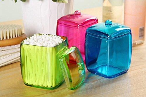 Adrienne Jewelry Set (Random New Design Colorful Cotton Swab Box Q-tip Storage Holder Cosmetic Makeup tool Women Storage Box Jewelry Box)