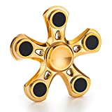 Spin Wars - Fidget Hand Spinner Toy - Addictive Fun for All Ages No Batteries Required (5 Sided, Gold