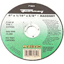 Forney 71851 Cut-Off Wheel with 5/8-Inch Arbor, Masonry Type 1, C24R-BF, 4-Inch-by-1/16-Inch