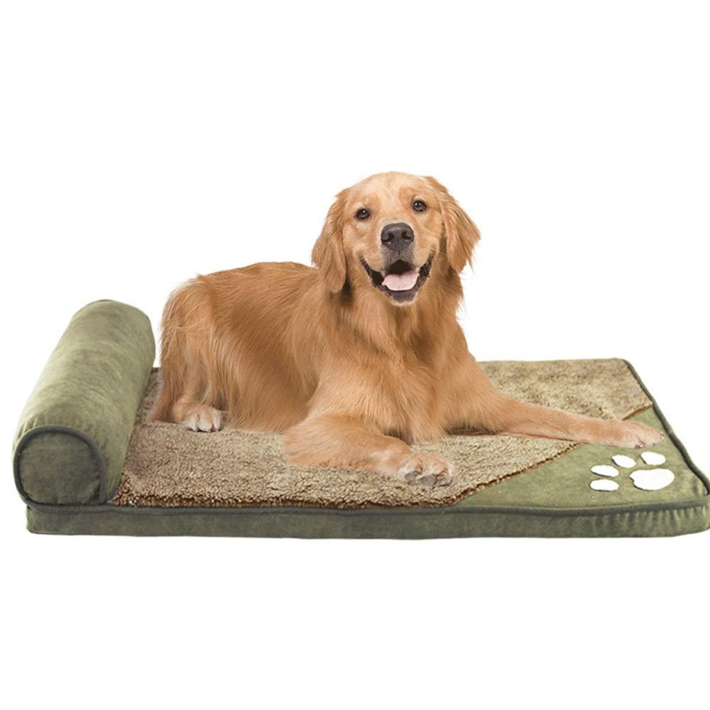 カシミアプラスコットン肥厚ファッション犬小屋犬ベッドペットマット大型ペット洗える秋と冬 (色 : ストライプ, サイズ さいず S : サイズ M) (色 B07P6Z8FLT 緑 S s S s|緑, ハレの日キッチン:79fb6e38 --- ijpba.info