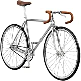 Pure Fix Premium Fixed Gear Single Speed Bicycle, 54cm/ Medium, Harding Chrome