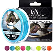 Maxcatch Braided Fly Line Backing for Fly Fishing 20/30lb 100yards (White, Yellow, Orange, Pink, Purple, Green