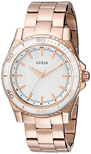 guess-womens-u0557l2-stainless-steel-rose-gold-tone-mid-size-watch-with-white-top-ring