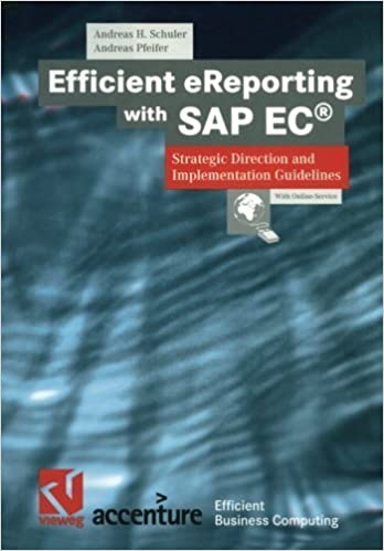 Book Efficient eReporting with SAP EC????: Strategic Direction and Implementation Guidelines (XEfficient Business Computing) by Andreas H. Schuler (2001-01-01)