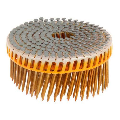 (Grip Rite Prime Guard GRPC7R92HG 15-deg HD Galv Plastic Sheet Coil Nails, Ring 2-1/4-inch by .092 (4,800-pack), Steel)