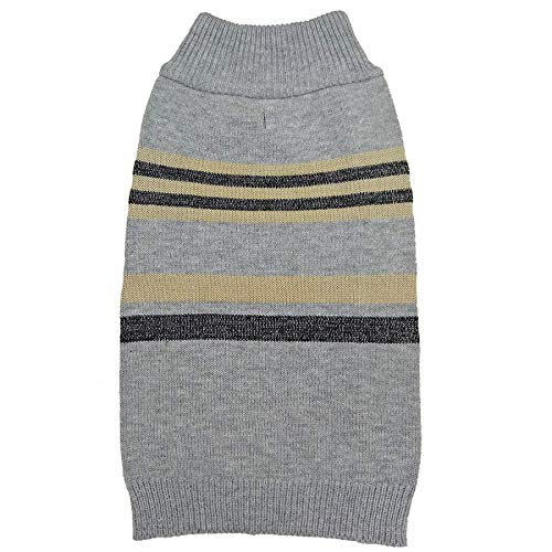 Fashion Pet Shimmer Stripes Dog Sweater - Gray (14 Pack)