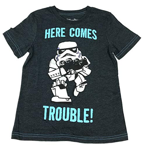 DisneyParks Star Wars Stormtrooper Here Comes Trouble Boys Youth Shirt (Medium)